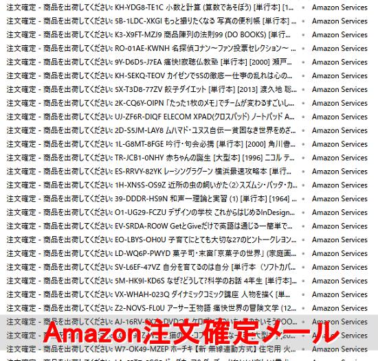 アマゾン注文確定メール