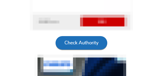『Check Authority』をクリック
